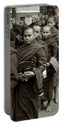 Monks In The Monastery Portable Battery Charger