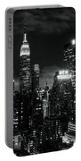 Monochrome City Portable Battery Charger