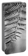 Monochrome Fern Frond Portable Battery Charger