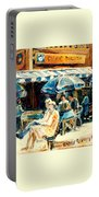 Montreal Cafe City Scenes Prince Arthur And Duluth Street Portable Battery Charger