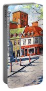 Montreal Street Urban Scene By Prankearts Portable Battery Charger