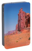 Monument Valley Elrphant Butte And Hogan Portable Battery Charger