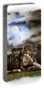 Moon Over Stonehenge Portable Battery Charger