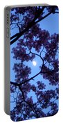 Moon Through Dogwood Portable Battery Charger