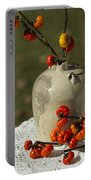 Moonshine Jug And Pumpkin On A Stick Portable Battery Charger