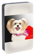 Morkie Valentine  Portable Battery Charger