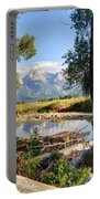 Mormon Row Stream - Grand Teton National Park Portable Battery Charger