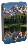 Morning At Schwabacher Landing Portable Battery Charger