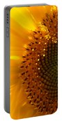 Morning Dew On Sunflower Portable Battery Charger
