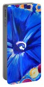Morning Glory Flower Portable Battery Charger