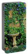 Morning Glory Garden In Provence Portable Battery Charger