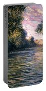 Morning On The Seine Portable Battery Charger by Claude Monet