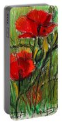 Morning Poppies Portable Battery Charger