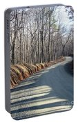 Morning Shadows On The Forest Road Portable Battery Charger