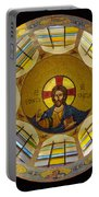 Mosaic Christ Portable Battery Charger