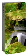 Mossy Japanese Garden Lantern Portable Battery Charger