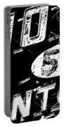 Motel Sign Black And White Portable Battery Charger