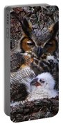 Mother And Baby Owl Portable Battery Charger