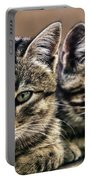 Mother And Child Wild Cats Portable Battery Charger