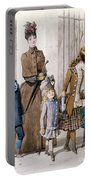Mother And Children In Walking Dress  Portable Battery Charger