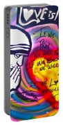 Mother Theresa Praying Portable Battery Charger