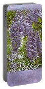 Mother's Day Card - Purple Wisteria Portable Battery Charger