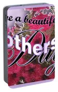 Mothers Day Pink Petunias Portable Battery Charger