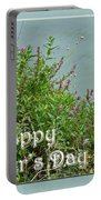 Mother's Day - Wildflowers By The Pond Portable Battery Charger
