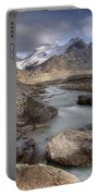 Mount Athabasca At Sunset Jasper Portable Battery Charger