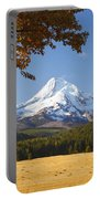Mount Hood And Autumn Colours In Hood Portable Battery Charger