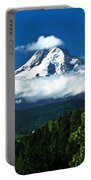 Mount Hood Framed By Trees, Oregon, Usa Portable Battery Charger