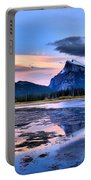 Mount Rundle In The Evening Portable Battery Charger