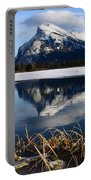 Mount Rundle In Winter Portable Battery Charger