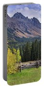 Mount Sneffels And Fence Portable Battery Charger