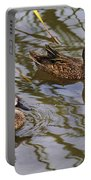 Mr And Mrs Blue Wing Teal Portable Battery Charger