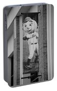Mr Met In Black And White Portable Battery Charger
