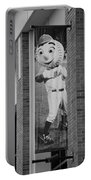 Mr Met In Black And White Portable Battery Charger by Rob Hans