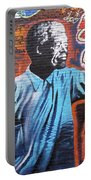 Mr. Nelson Mandela Portable Battery Charger by Juergen Weiss