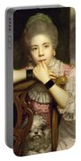 Mrs Abington As Miss Prue In Congreve's 'love For Love'  Portable Battery Charger by Sir Joshua Reynolds