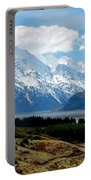 Mt Cook Across Lake Pukaki Portable Battery Charger