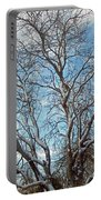 Mulberry Tree In Snow Portable Battery Charger