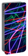 Multi-colored Glowing Light Streaks Portable Battery Charger