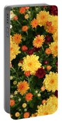 Multi Colored Mums Portable Battery Charger