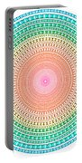 Multicolor Circle Portable Battery Charger