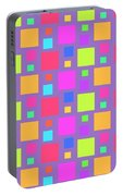 Multicoloured Squares Portable Battery Charger