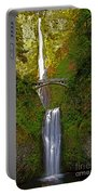 Multnomah Falls At Summer Solstice - Posterized Portable Battery Charger