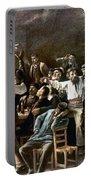 Munkacsy: Strike, 1895 Portable Battery Charger