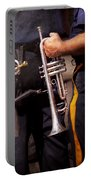Music - Trumpet - Police Marching Band  Portable Battery Charger by Mike Savad