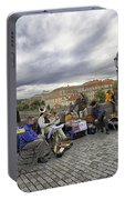 Musicians On The Charles Bridge - Prague Portable Battery Charger
