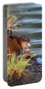 Muskrat Feeding Portable Battery Charger